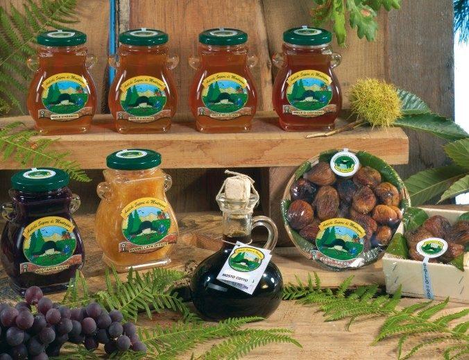 Fichi secchi ripieni e miele d'arancio, Castagno, Millefiori, Acacia ed Eucalipto
